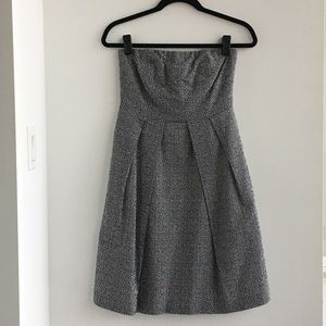 J.Crew Strapless Polka Dot Cotton Dress